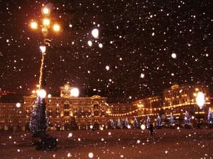 Nevicata in Piazza Unità