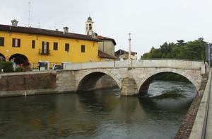 Ponte (anno 1603) sul naviglio grande