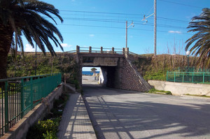 Ponte ferroviario a Guardia Piemontese Marina