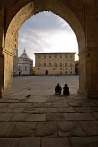 "Piazza  del Duomo  Pistoia  ""dialogo"""