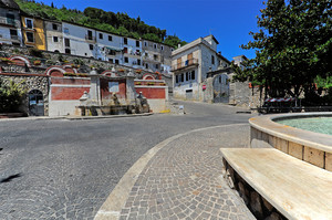 La piazza delle fontane