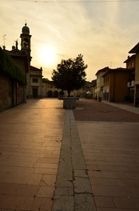 tramonto in piazza