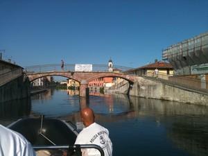 Dal Naviglio il ponte Pedonale