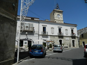 P.zza C.Alberto della Chiesa con la Torre dell'Orologio