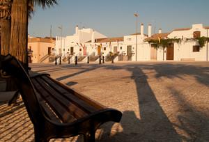 Tramonto in piazza castello