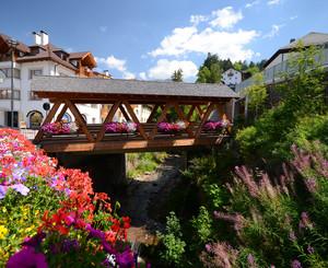 Un ponte tra i fiori