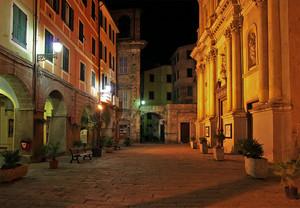 Piazza Duomo a Badalucco