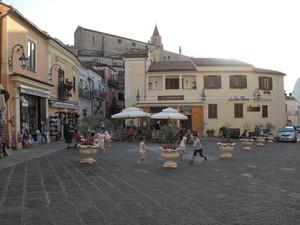 La piazza dei turisti