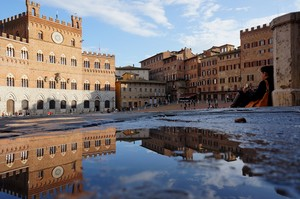 Sosta in Piazza del Campo