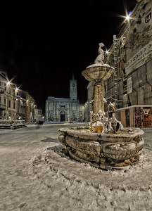 neve in piazza arringo