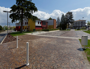 Piazza Cesarotto dopo il temporale