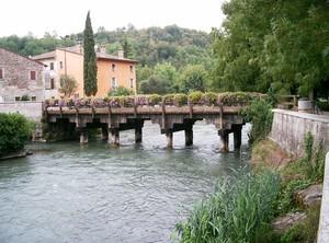 ponte in legno sul Mincio