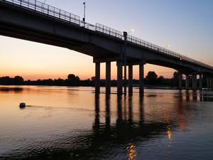 Tramonto sul fiume Po