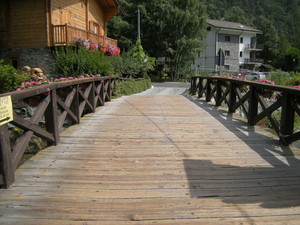 Antey St.André, ponte in legno