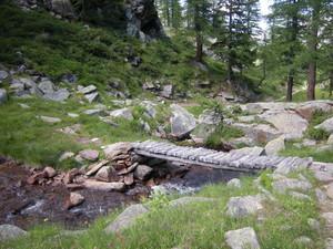 Ceresole, ponte nei pressi del lago di Dres
