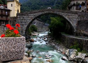 Il primo ponte della Val d'Aosta