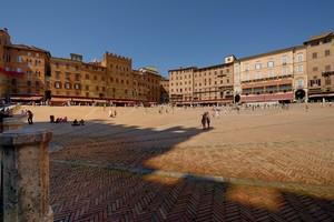 Piazza del Campo dopo il Palio