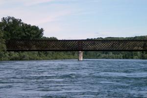 Ponte di ferro sul ticino