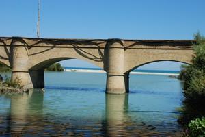 Ponte ferroviario dismesso alla foce del Fiume Sangro