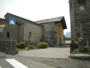 Antey St. André, piazza della chiesa