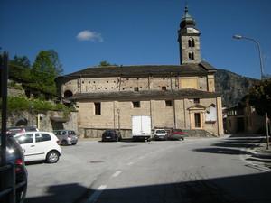 Monterosso Grana, piazza della borgata San Pietro