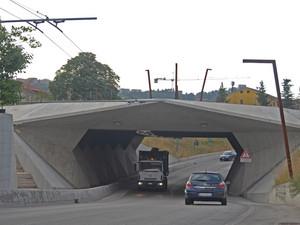 Ponte pedonale nei pressi dell' Ospedale