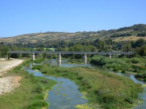 Ponte Ferroviario su l Fiume Tronto in f.ne Caselle