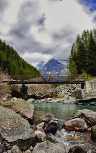 Ponte sul Mallero per l'Alpe Lagazzuolo