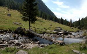 Un ponticello di legno sul Valfontana