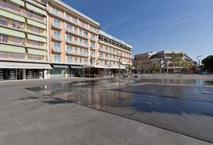 Giochi d'acqua su Piazza Mazzini