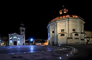 Piazza Italia in una notte di fine estate