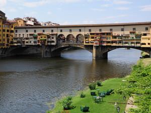 green grass under the Florence Bridge