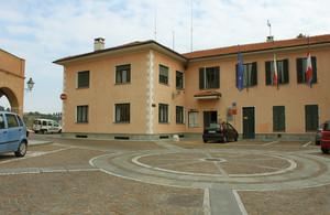 Piazza Umberto I° a Baldissero Torinese