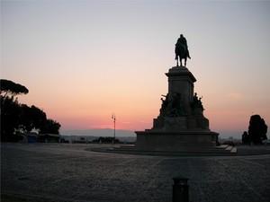 Piazzale Giuseppe Garibaldi….al Gianicolo