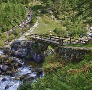 Un ponte della Val Fontana