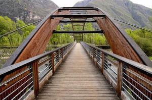 Ponte Ciclopedonale sul Fiume Oglio