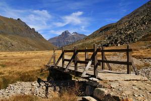 Un ponte nella piana del Nivolet
