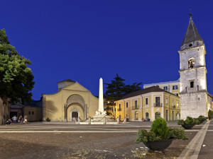Piazza Santa Sofia di notte