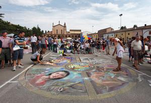 La piazza dei madonnari