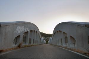 Il ponte che collega la località di Prunella