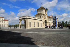 Piazza della Repubblica ingresso al parco