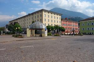 La piazza di Pergine