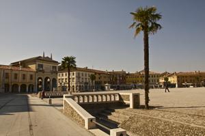altra parte della piazza grande con palma