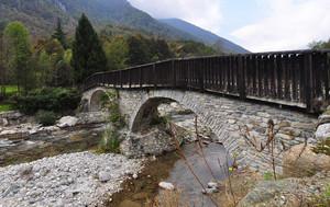 Ponte sulla Stura della Val Grande: altro versante
