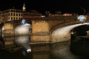 Ponte fiorentino in notturna