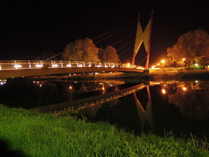 Il ponte sul Sile di notte