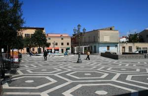 Piazza della fontana romana