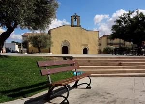 Panchina davanti a san Pietro