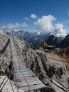 Ponte Cristallo sulle Dolomiti