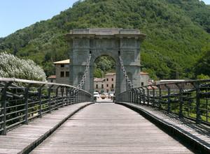 """Un ponte """"al guinzaglio""""."""